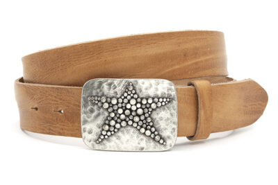 Buckle riem naturel