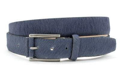Grijsblauwe hair-on riem unisex