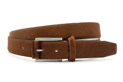 Cognac kleurige hair-on riem unisex
