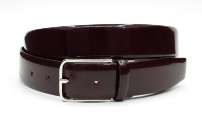 Heren riem bordeaux lak