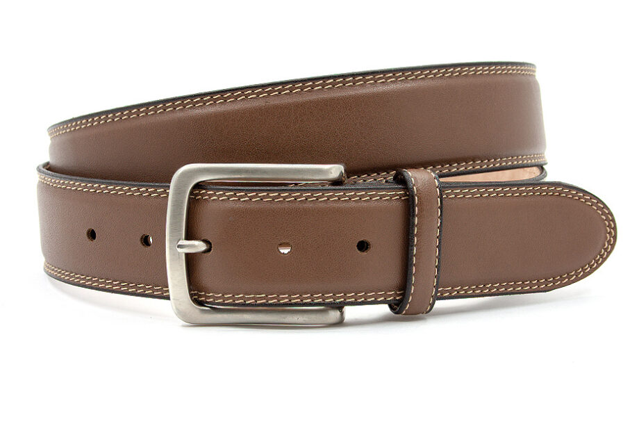 Donkere taupe heren riem
