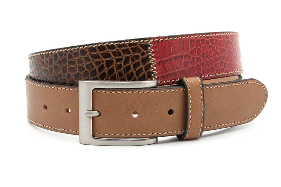 Heren riem patchwork